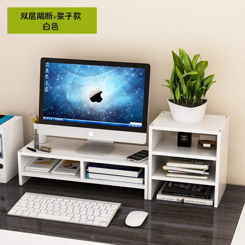ALIPC Practical Increase Monitor Stand, Simple Wood Computer Desk Riser with Storage Screen Heightening Base Laptop Desk for Home Office Study -i 50x20x13cm(20x8x5)