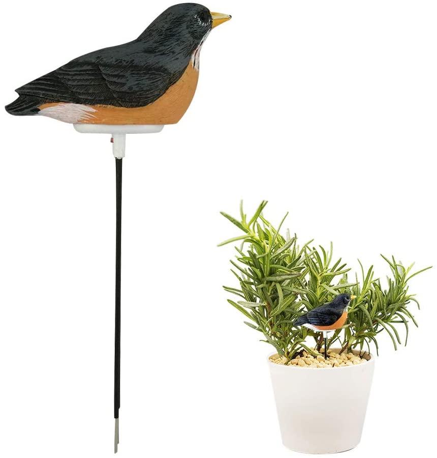 Sunsbell Soil Moisture Meter Watering Alarm Bird Plant Soil Tester Hygrometer Sensor Gardening Tool Kit for Planter Water Remind Warning Alert