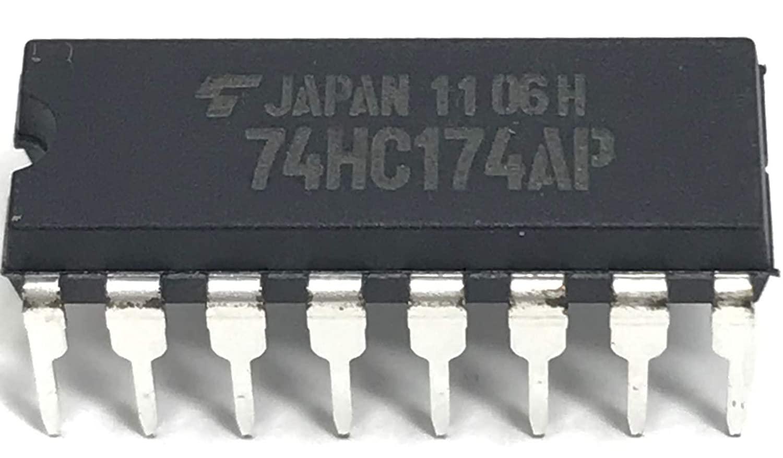 Juried Engineering Toshiba TC74HC174AP 74HC174 Hex D-Type Flip-Flops with Clear Breadboard-Friendly (1 Piece)