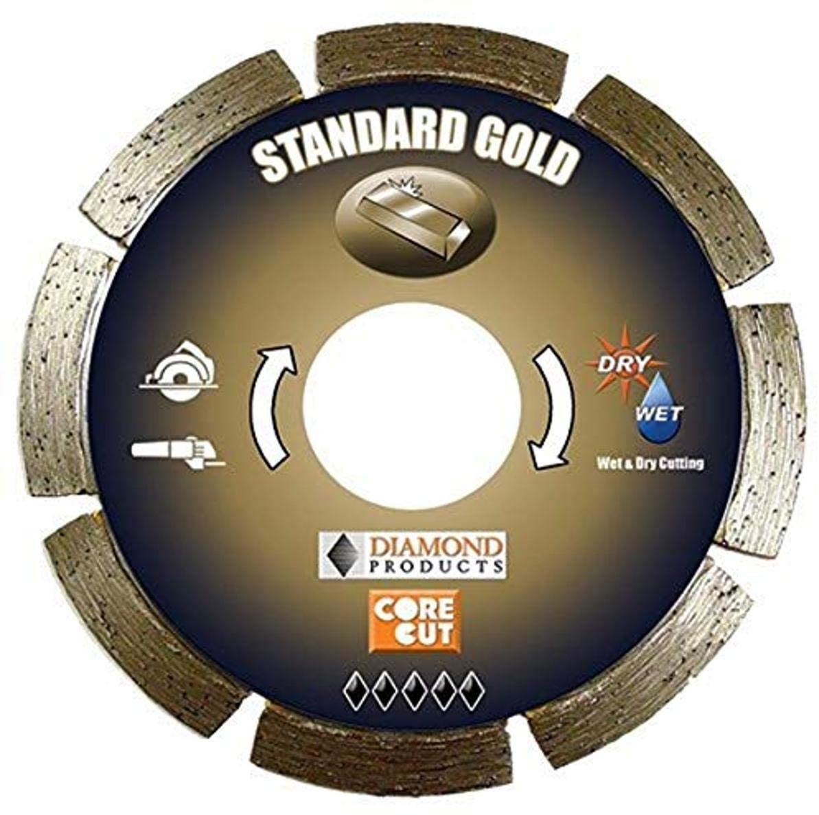 Diamond Products Core Cut 12462 4-Inch by 0.250 Standard Gold Tuck Point Blade