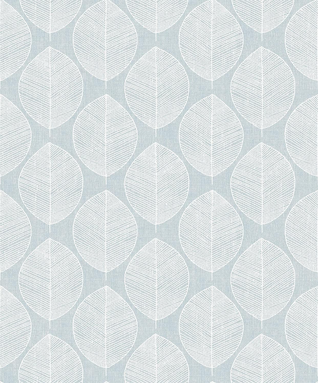 Arthouse Scandi Leaf Wallpaper, Teal