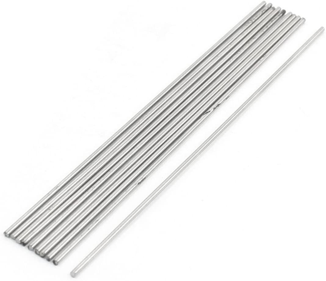 10 Pcs HSS High Speed Steel Round Turning Lathe Bars 1.2mm x 100mm