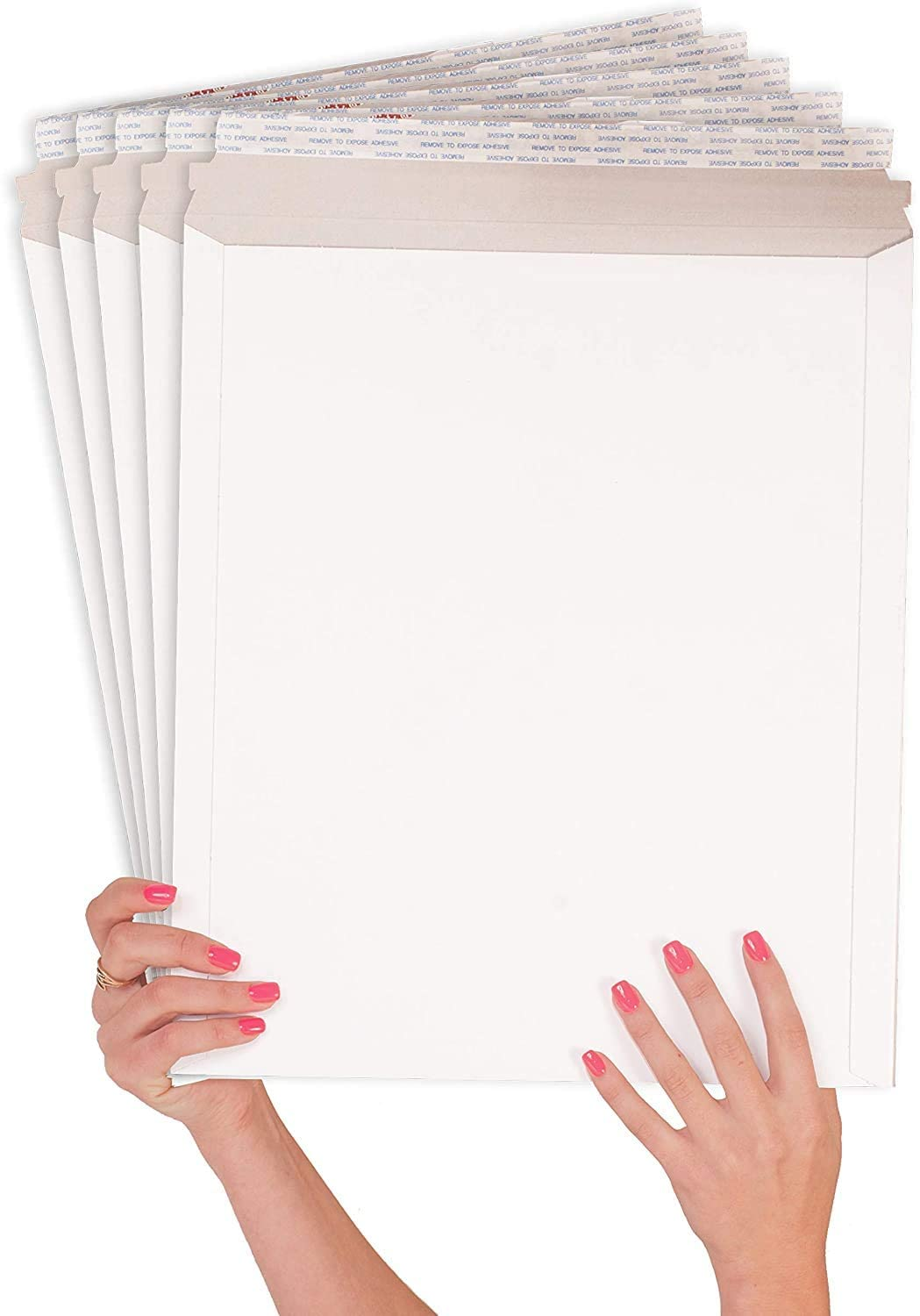 ABC 10 Pack White Stay Flat Mailers 13 x 18 X-Large Size Durable Stiff Carboard envelopes 13x18. Rigid Paperboard mailers. Photography Mailers for Documents, Photo, Prints. Tear Tab, Peel and Seal