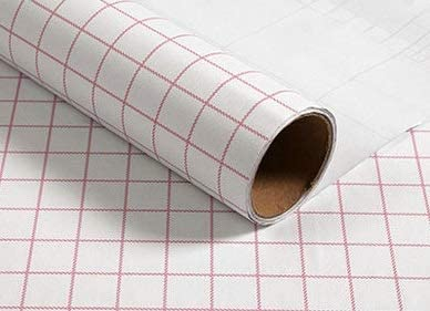 Self Adhesive Wallpaper,Grid,Fashionable and generous,Suitable for home, hotel, school decoration, etc (23.6″×393.7″, pink-small grid)