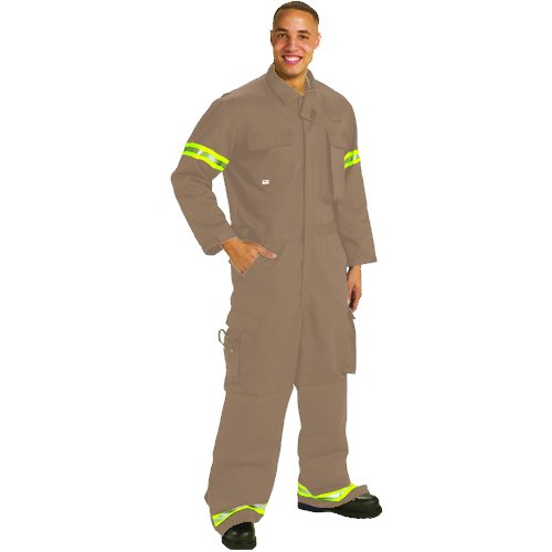 TOPPS SAFETY CO12-3950-Reg/58-60 Indura Extrication Suit, 58-60, 4X-Large, Regular, Tan