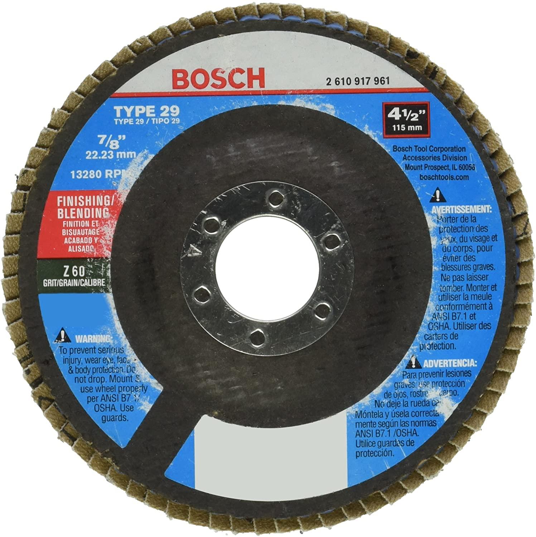 Bosch FD2945060 4-1/2 In. 7/8 In. Arbor Type 29 60 Grit Blending/Grinding Abrasive Wheel