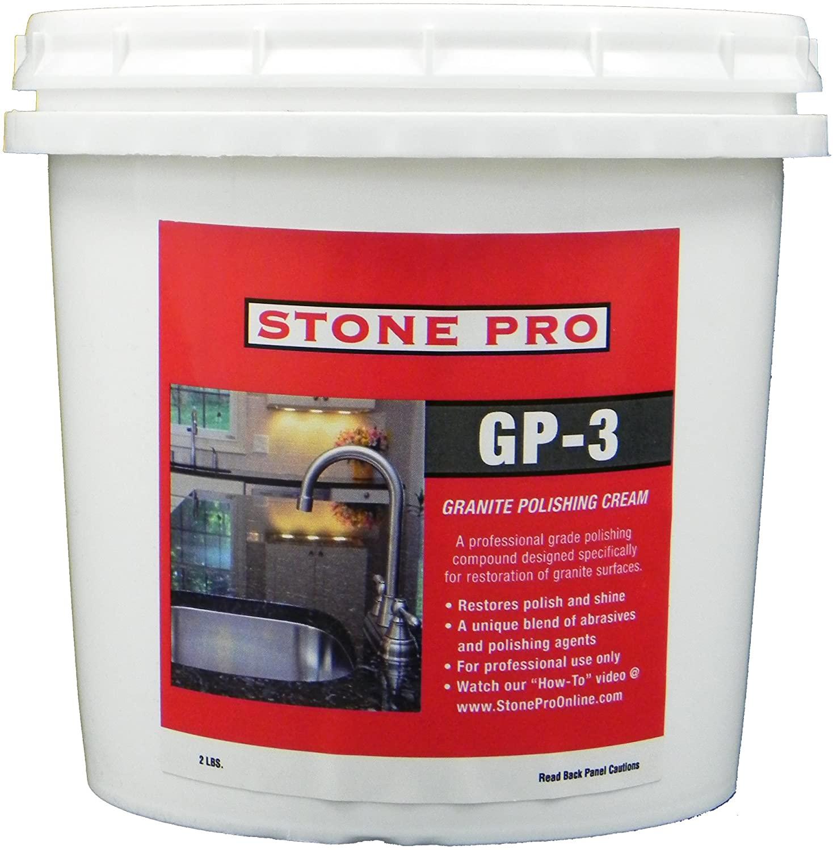 Stone Pro GP-3 - Granite Polishing Cream - 2 Pound
