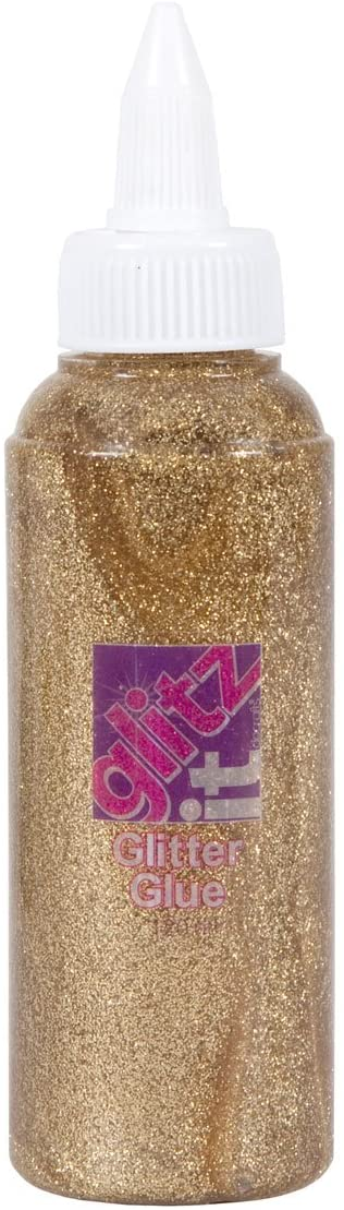(gold) - Docrafts Glitz It Glitter Glue (120ml) - Gold