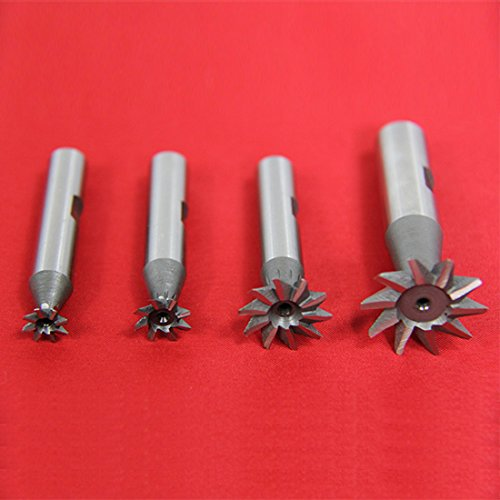 4Pc 60 Degree Dovetail Cutter Set 3/8 1/2 3/4 1