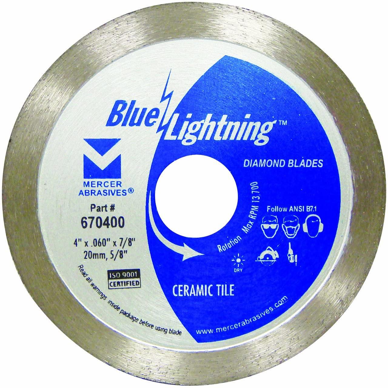 Mercer Abrasives 670400 Diamond Blade for Ceramic Tile, 4-Inch