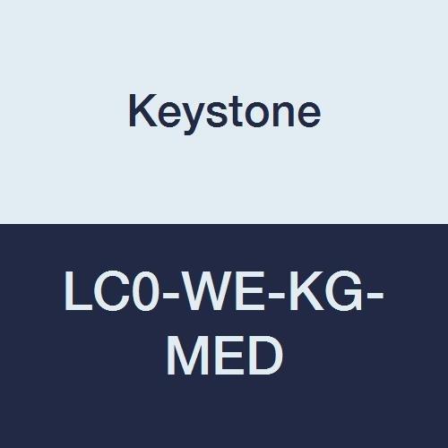 Keystone LC0-WE-KG-MED Key Guard Lab Coat, No Pocket, Elastic Wrists, Snap Front, Single Collar, Medium, White (Pack of 30)