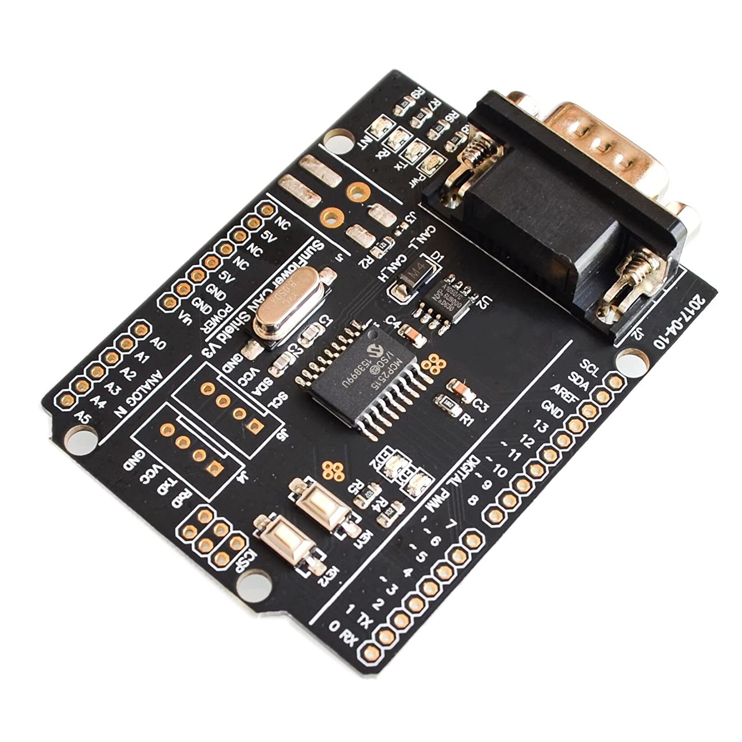 ! CAN Shield Expansion Board Connected to The car CAN Bus Communication Protocol
