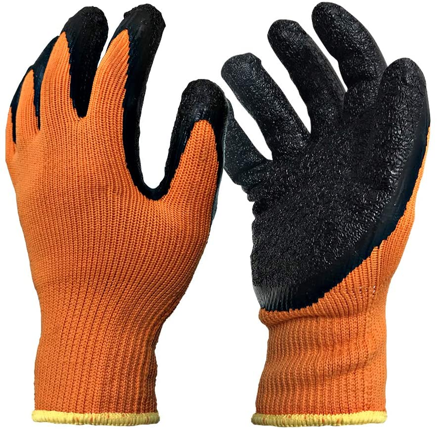 WIRESTER (1 Pair) Heat Resistant Gloves for Heat Transfer Printing, 3D vacuum Heat Transfer Machine, Sublimation - Orange/Black
