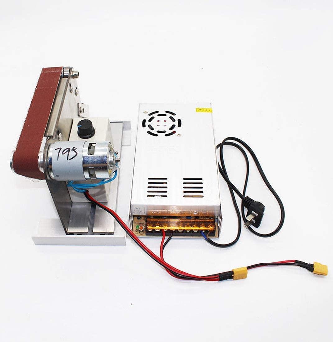 Dzhot51 Mini DIY Belt Sander Small Grinding wheel machine Electric Desktop Grinder