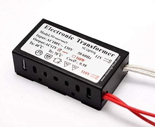 Halogen/Xenon Electronic Transformer 120 Watt Max output 120 Volt Input / 12 Volt AC OutPut Transformer in Compact Housing
