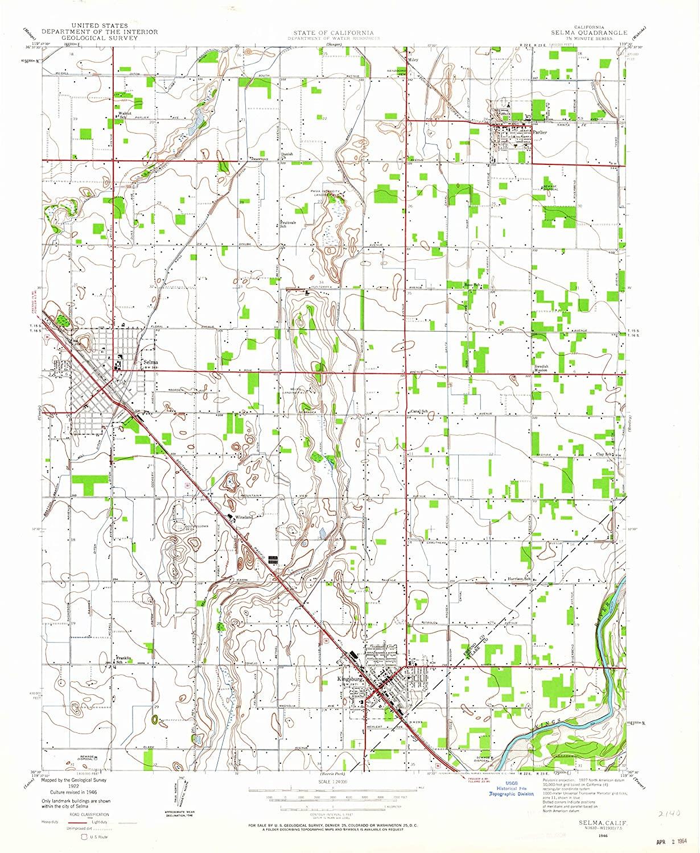 Map Print - Selma, California (1946), 1:24000 Scale - 24