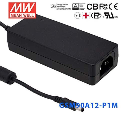 Meanwell GSM90A12-P1M External Power Adaptor - 80W 12V 6.67A