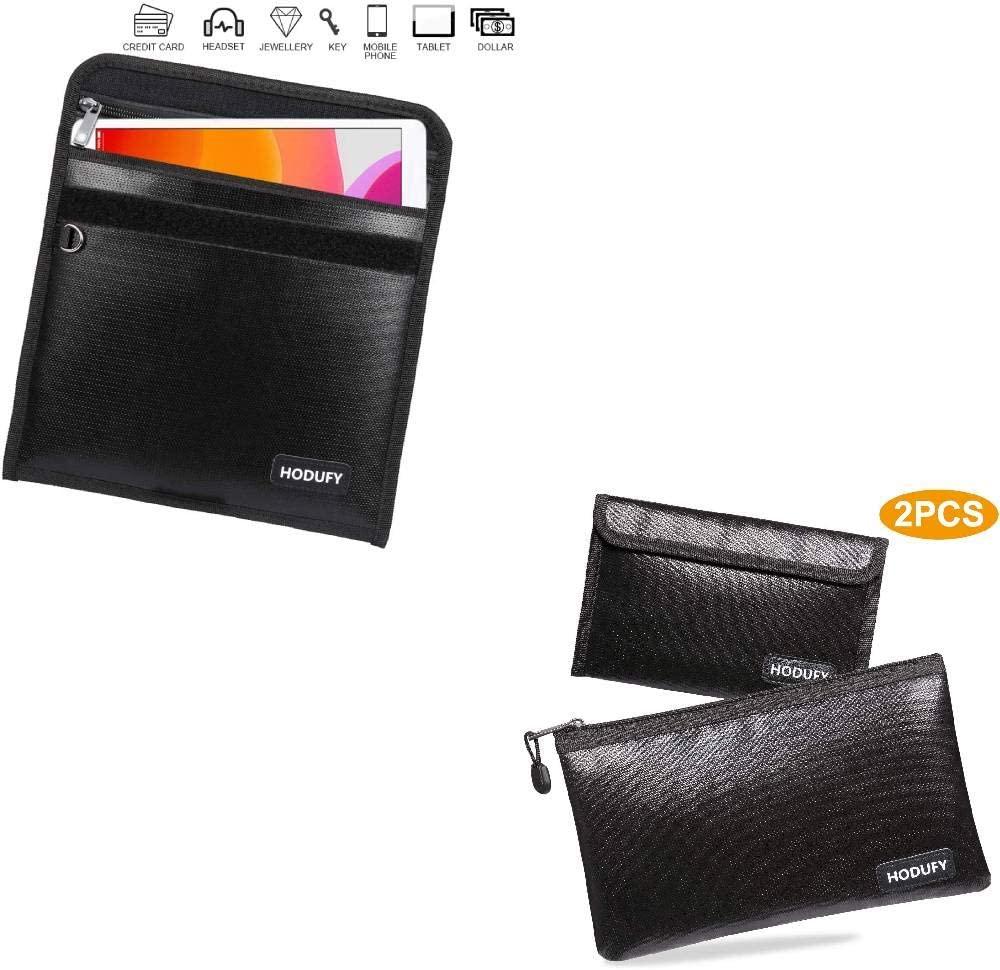 Faraday Bag for Phones+Hodufy Fireproof Money Bag(2 Pack)