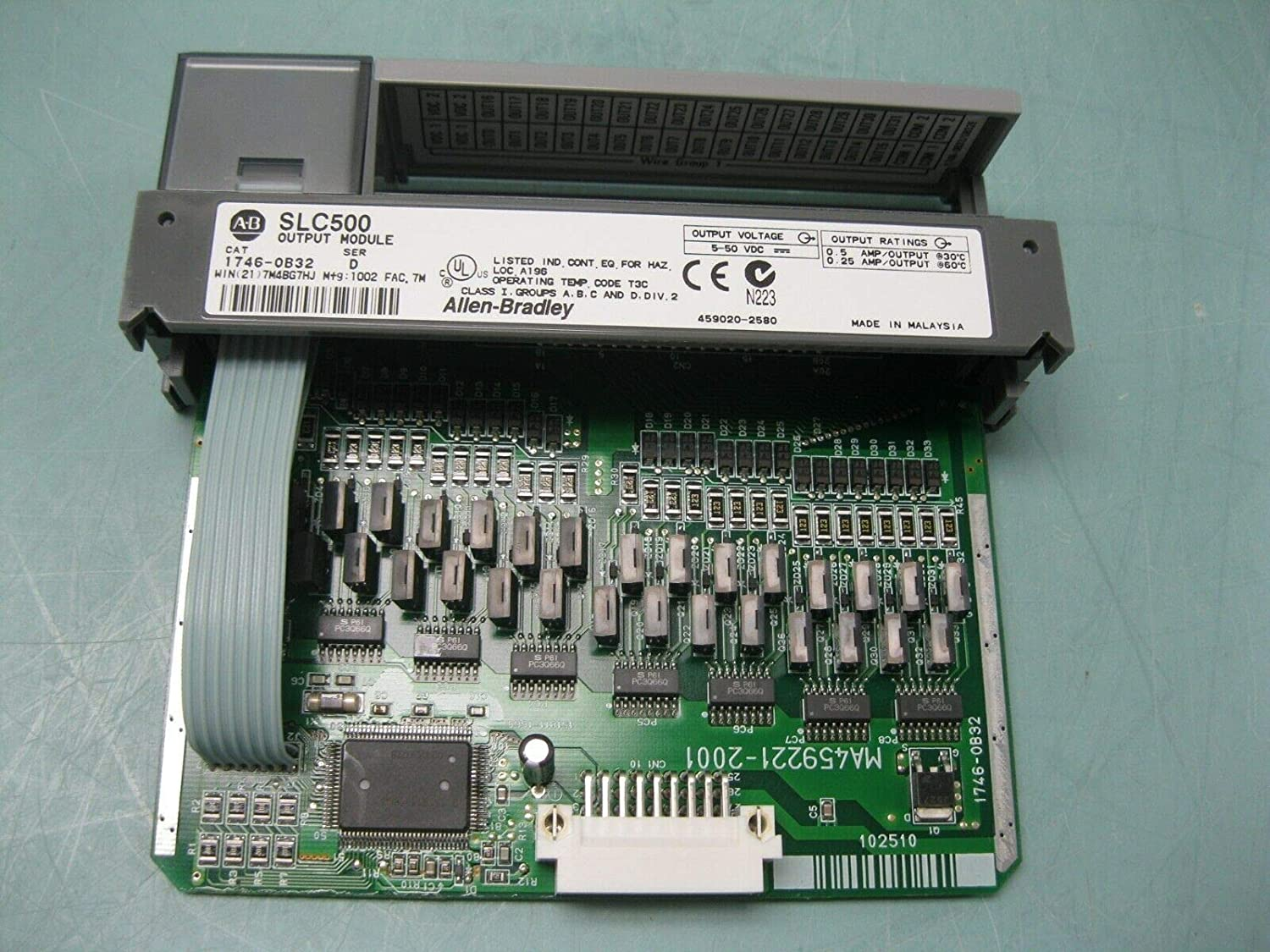 1746-OB32 Ser.D I/O Module, SLC 500, Digital, 8 Channel Output, Current SOURCING, 5-50 Volt DC, Open Style Chassis