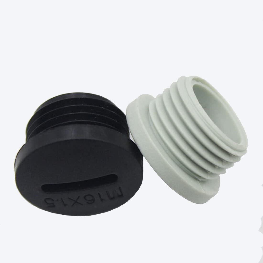 10Pcs M321.5 Black Plastic Hole Plugs Round Shaped Nylon Clogging Pieces