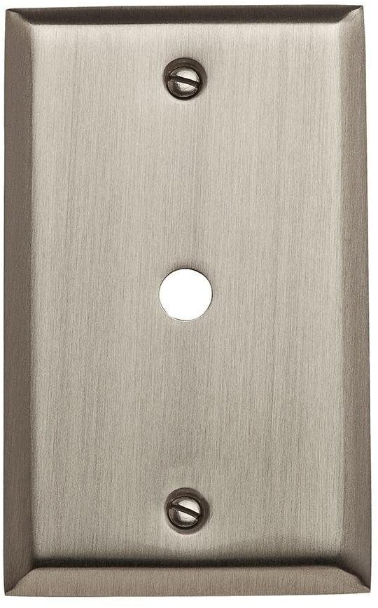Baldwin 4764.150.CD Classic Square Beveled Edge Cable Cover, Satin Nickel