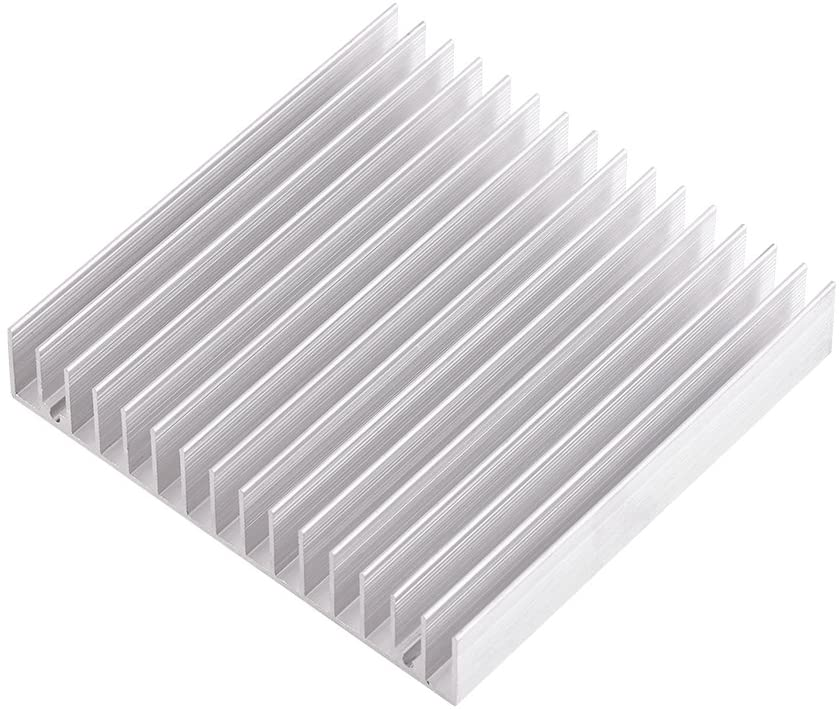 Aluminium Heatsink Good Thermal Conductivity Heat Sink Cooling Fin 100x100x18mm