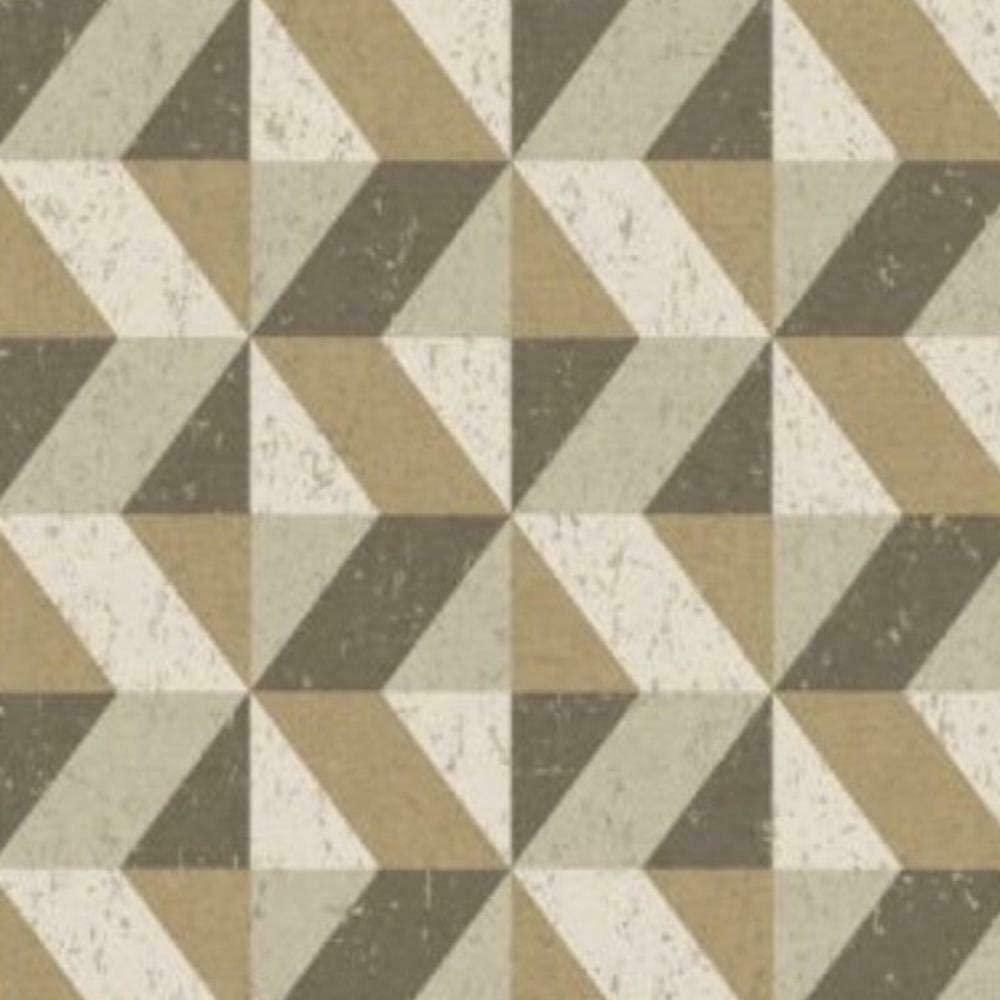 Fine Decor 2896-25315 Cerium Gold Concrete Geometric Wallpaper