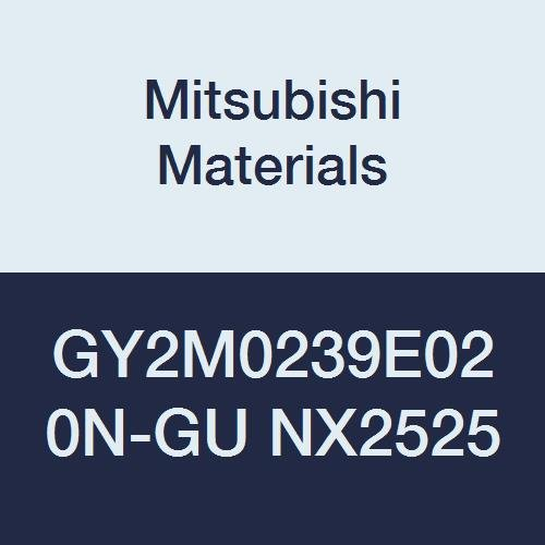 Mitsubishi Materials GY2M0239E020N-GU NX2525 Cermet Grooving Insert for Grooving/Cutting Off and Gummy Steel, 2 Teeth, E Seat, 0.094