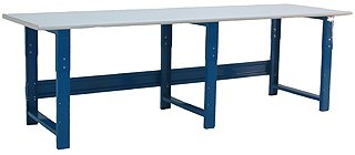 Bench Pro RCR30120 Benchpro Workbench Gray Frame with Cleanroom Laminate Top, 1200 Lbs Capacity, 120 Length x 30 Depth x 30-36 Height, 30 Height, 120 Wide, 30 Length, Cubic_Feet