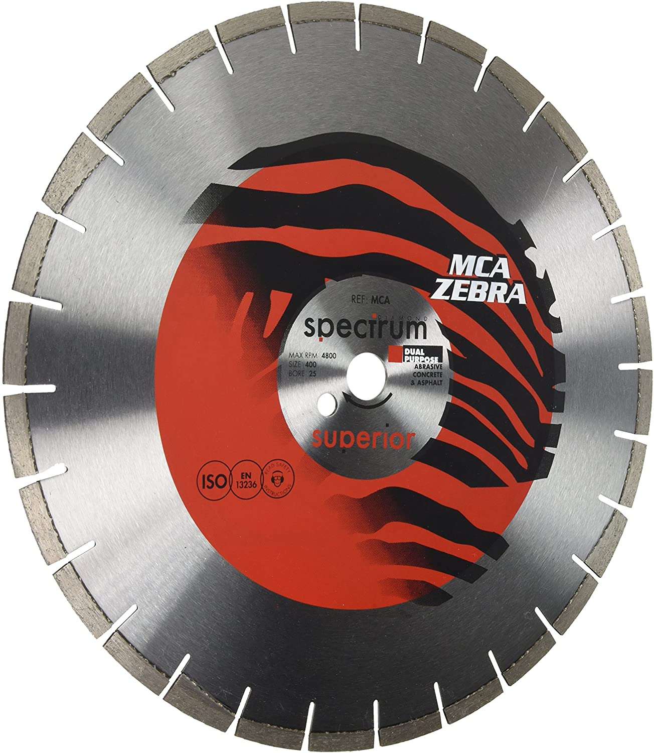 OX Tools MCA400/25 Spectrum Superior Zebra Dia Blade-Abrasive-400/25.4mm Diamond Blade, Multi-Colour, 400/25.4 mm