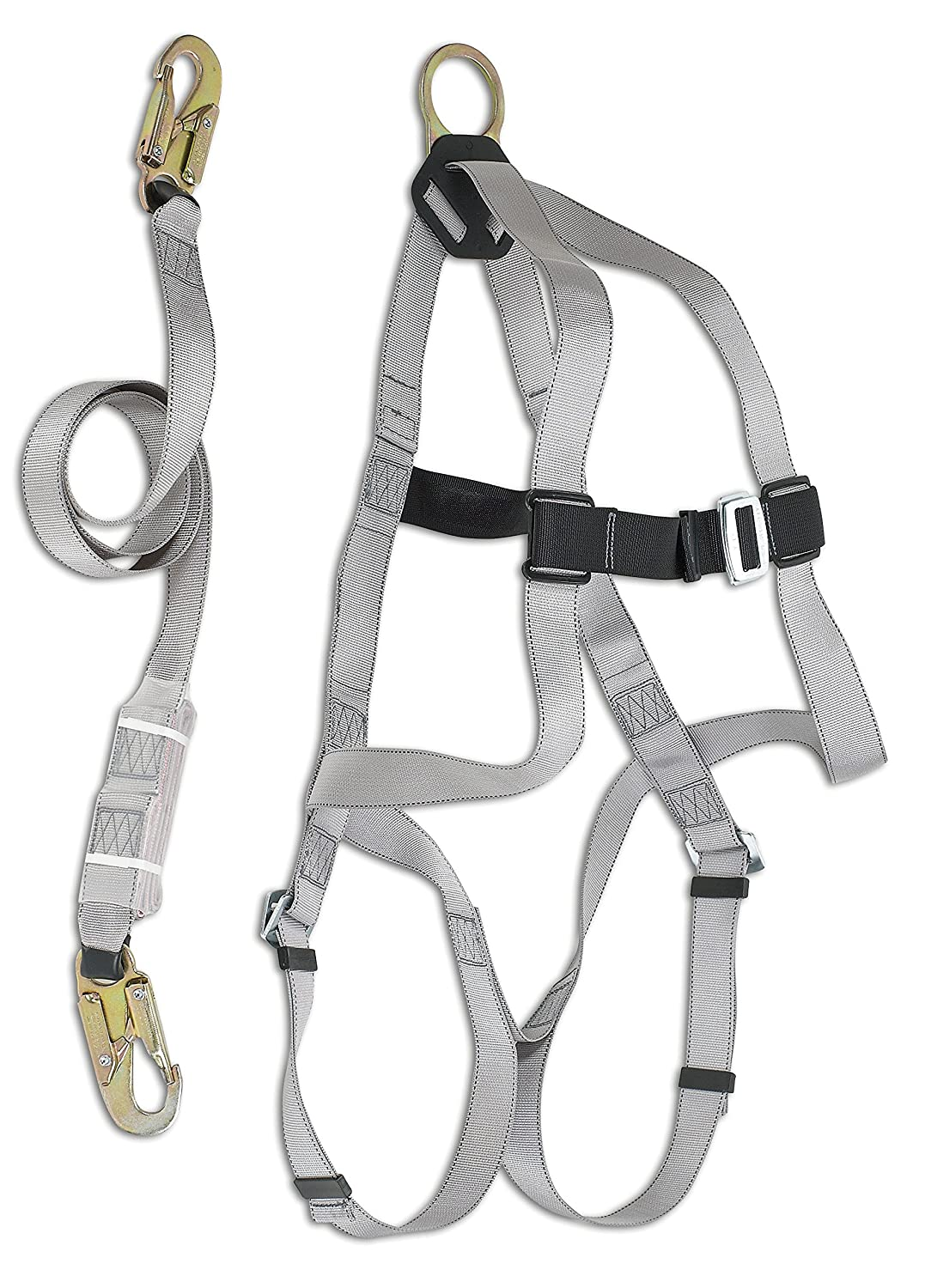 Dynamic Safety FPKIT02/6 Basic B-Compliant Kit: 1 FP4001D Harness with FP65822/6 Lanyard, 1 FP1002 Equipment Bag, 6' Long