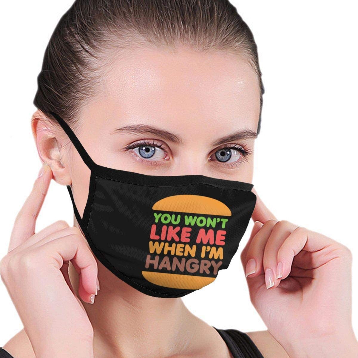 You Won'T Like Me When I'M Hangry Adjustable Mouth Sleeve Anti-Dust Washable Reusable Mouth Guard