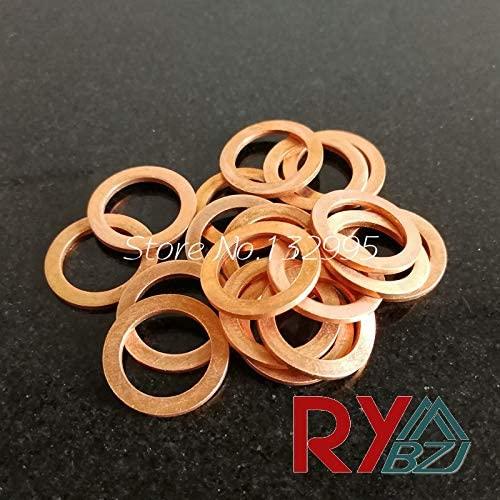 Ochoos Copper Washer M6 (6mm8mm0.5mm) Copper Flat Washer, Seal Washer, Brass washers