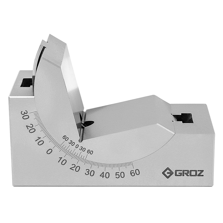 GROZ Adjustable Angle Block (0-60°) | 50-55HRC | 10 Micron Squareness (02100)