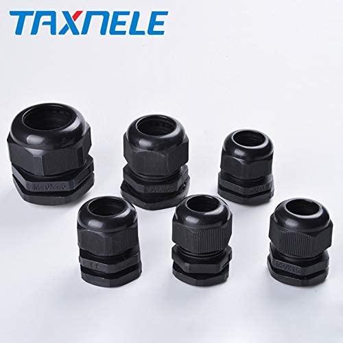 10 PCS M25 M27 M30 M32 M36 M40 Black Nylon Cable Glands Joints IP68 Plastic Cable Fixed Head - (Color: M36X1.5)