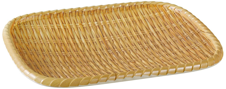 Yanco WD-412 Rectangular Wooden Tray, 11.75