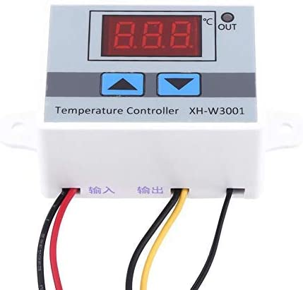 Digital temperature controller High precision thermostat control with 1M waterproof probe, -50~110 ℃, AC220V