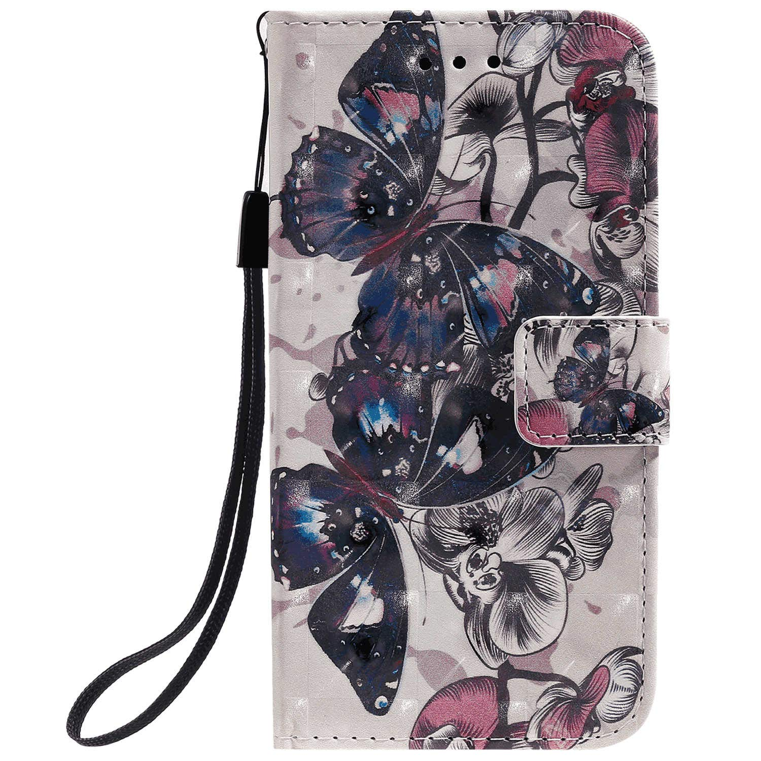 Positive Cover Compatible with Samsung Galaxy S20, butterflys3 PU Leather Wallet Flip Case for Samsung Galaxy S20