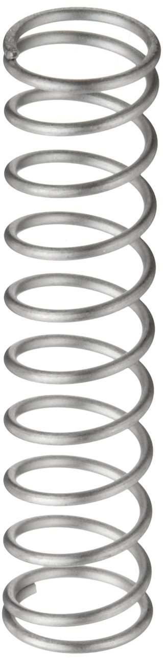Compression Spring, 302 Stainless Steel, Inch, 0.72 OD, 0.065 Wire Size, 0.865 Compressed Length, 1.75 Free Length, 12.97 lbs Load Capacity, 14.66 lbs/in Spring Rate (Pack of 10)