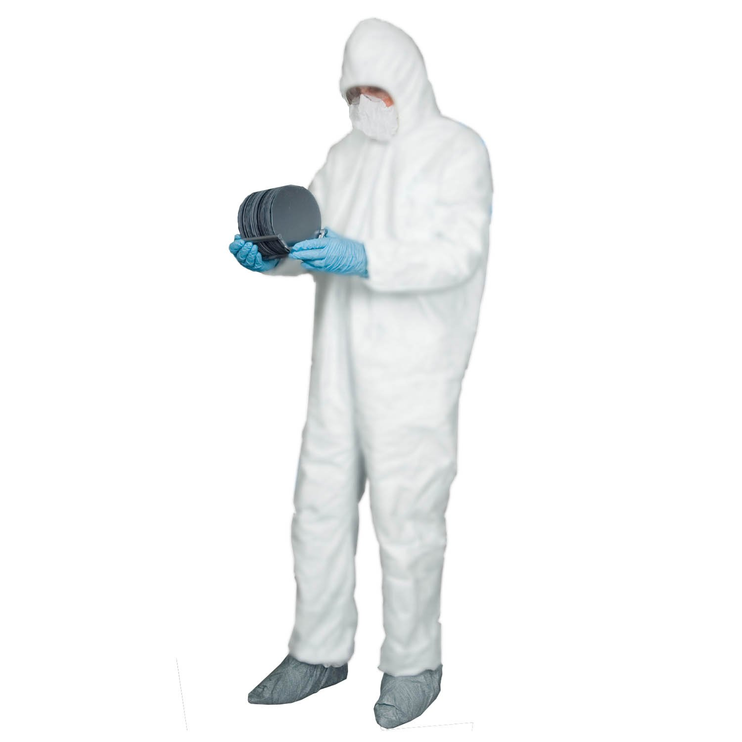 Enviroguard Body Filter 95 Plus Coverall with Hood, Disposable, White, 2X-Large (Case of 25)