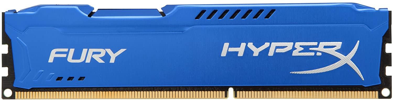 Kingston HyperX FURY 8GB 1600MHz DDR3 CL10 DIMM - Blue (HX316C10F/8)