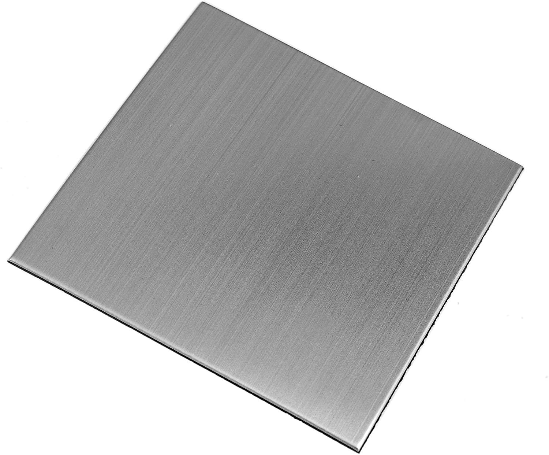 Ver Block Peel and Stick Design Stainless Steel DIY Interior Tile 20PCS (7.8 x 7.8 inch, Brush Grey)