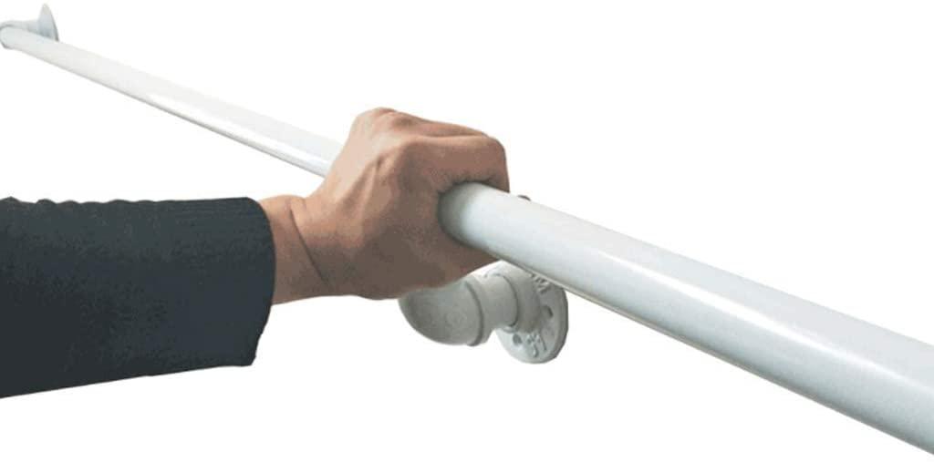 WWWANG 1ft-20ft White Handrails - Complete Kit, Non-Slip Railings Balance Handrail for Indoor Corridor or Doorway Stairs Steps (Size : 10ft)