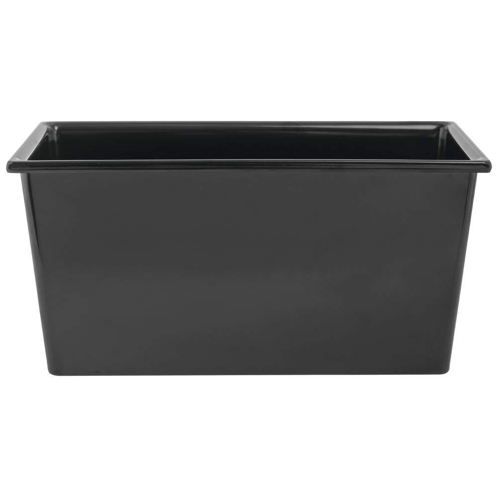 4S SmartFit 1/3 Size Black Melamine Cold Food Pan - 6 7/10