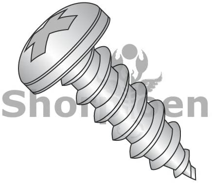 12-14X1 1/4 Phillips Pan Self Tapping Screw Type AB Fully Threaded 18-8 Stainless Steel - Box Quantity 1000 by Shorpioen BC-1220ABPP188