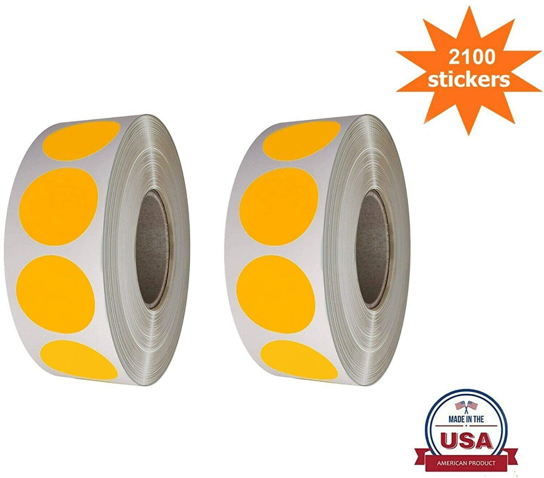 Royal Green Dot Stickers Neon-Orange 3/4