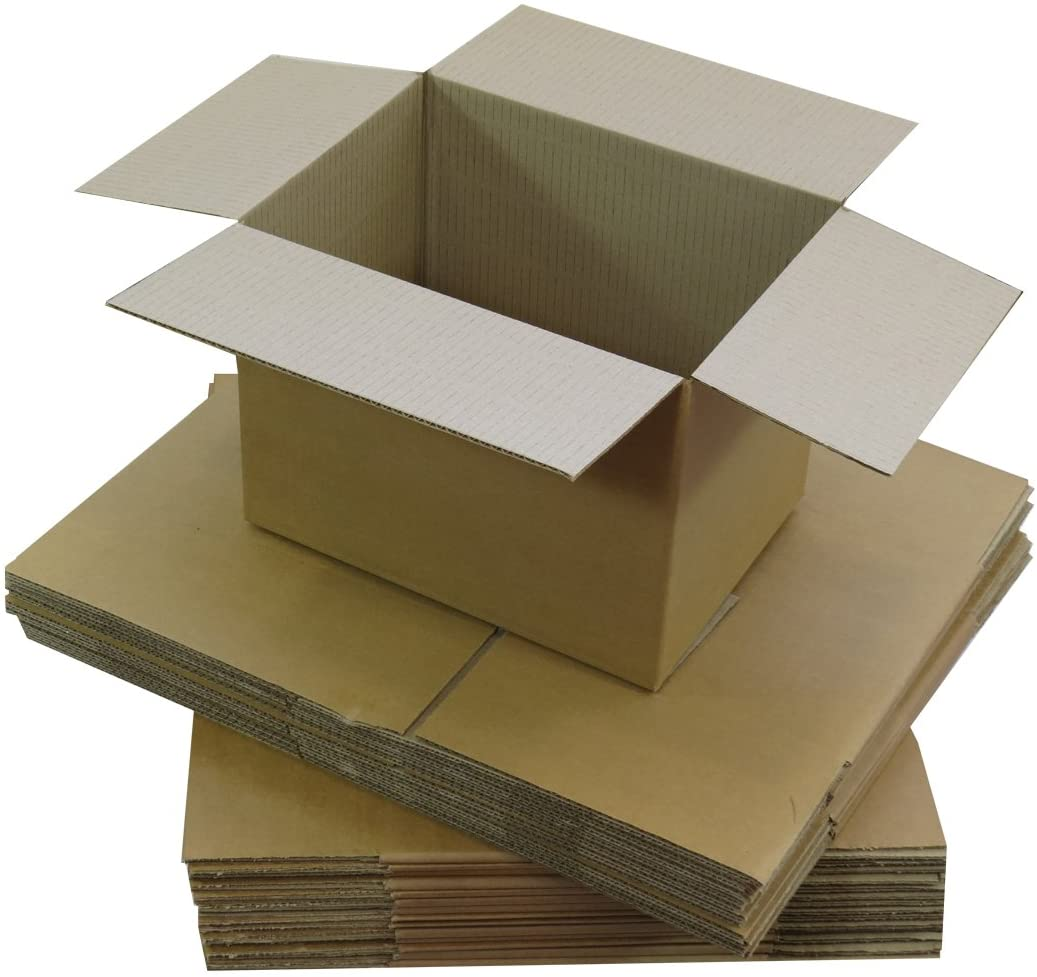 Triplast 203 x 152 x 152mm Small Single Wall 8x6x6 Shipping Mailing Postal Gift Cuboid Cardboard Boxes (Pack of 10)