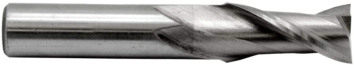 Metric 12.00 mm, 3/8 Shank Dia. Two Flute End Mill HS