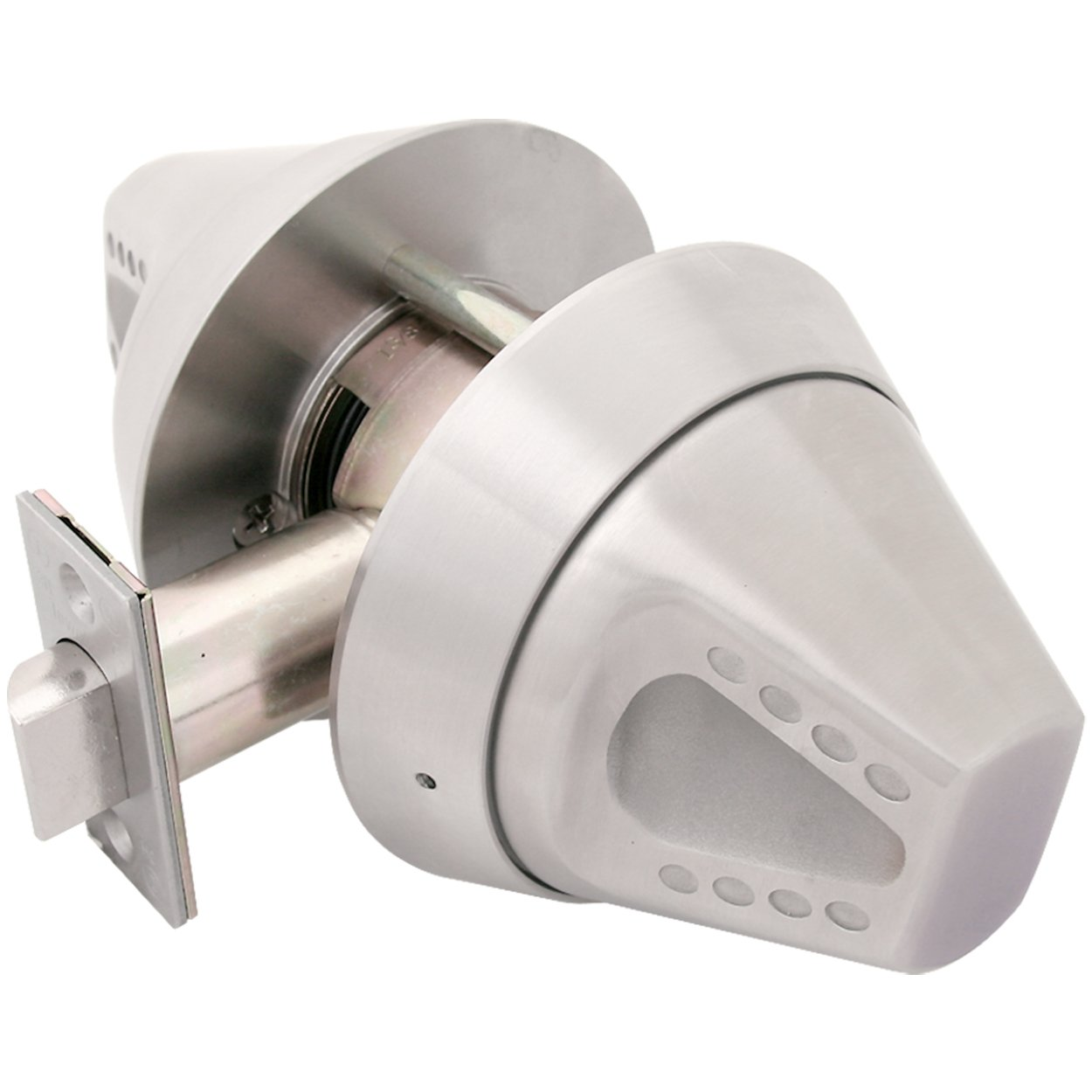 TownSteel CRX-K-75 Cylindrical Lock with Ligature Resistant Knob Trim, Grade 1, Privacy Function, Non-Handed, Satin Stainless Steel