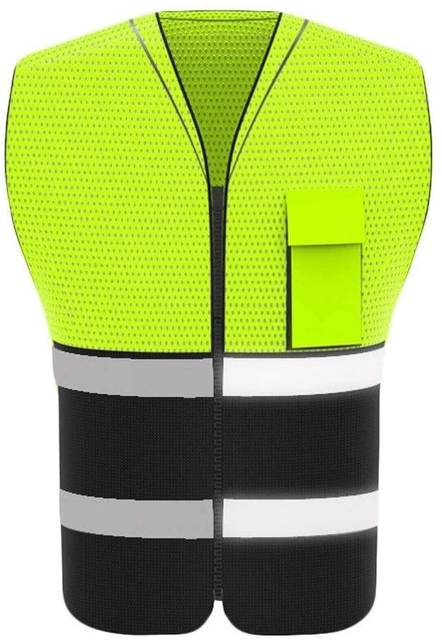 Safety Vest High Visibility Reflective Safety Vest, Lightweight and Breathable Overalls, Reflective Safety Vest, Night Travel Safety, Workwear Vest Child Safety Vest (Color : Blue, Size : One Size)